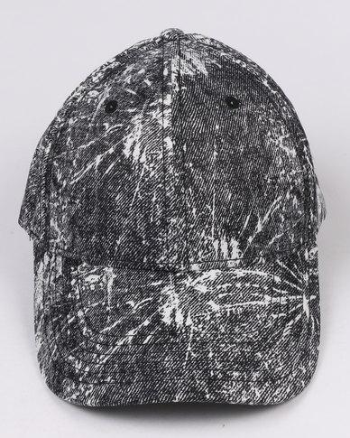 New Look Paint Splatter Cap Black