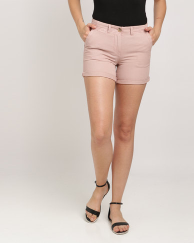 New Look Chino Shorts Pink