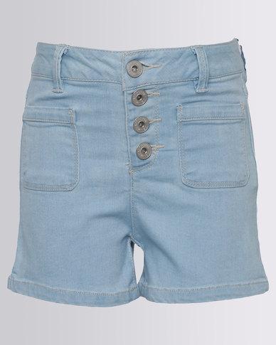 New Look Denim Shorts Light Blue