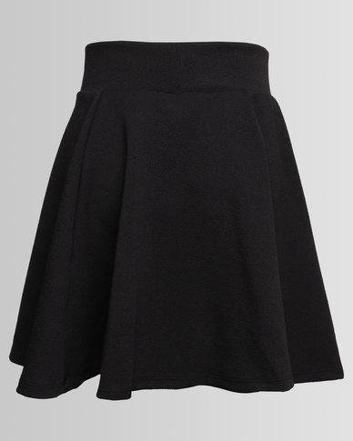 New Look Riverpool Skater Skirt Black Zando
