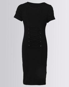 New Look Corset T-Shirt Dress Black