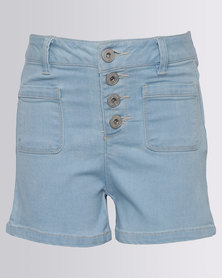New Look Denim Shorts Light Blue