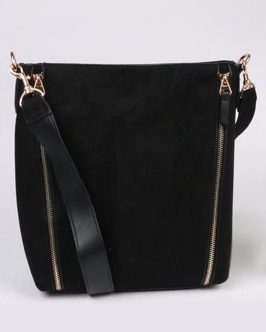 New Look New Suedette Bucket Bag Black