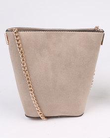 New Look Mini Bucket Shoulder Bag Grey