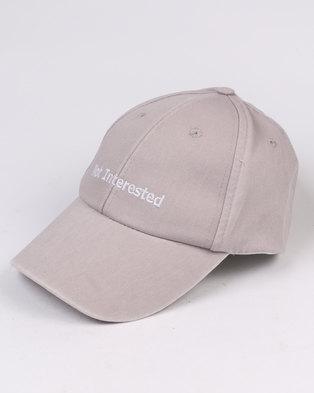 New Look Not Interested Cap Grey
