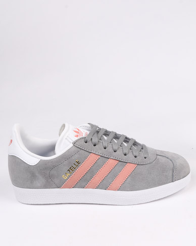 Adidas Gazelle Womens Grey And Pink