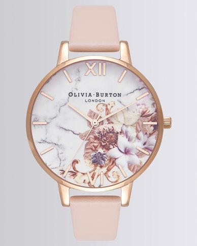 1be4a35c8 Olivia Burton Leather Strap Watch Nude Peach & Rose Gold-Tone | Zando