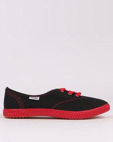 Tomy Takkies Original Neon Black/Red