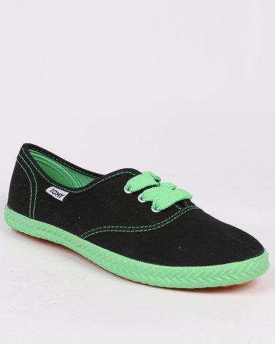Tomy Takkies Original Neon Black/Green