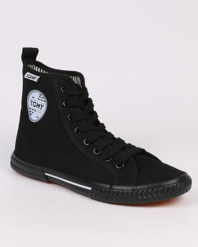 Tomy Takkies S/Patch Hi Top Full Black