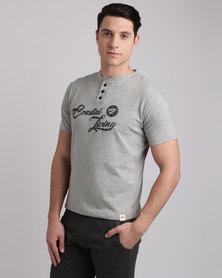 Peg Henley T-Shirt Grey
