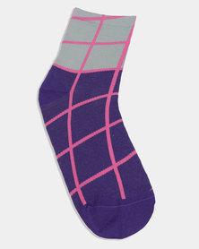 Hysteria Kaven Ankle Sock Purple
