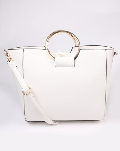 New Look Metal Handle Tote White
