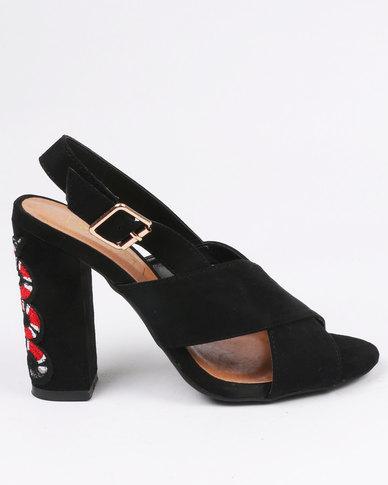 ZOOM Candice Block Heels Black