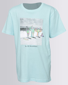 Billabong Boys Surf Check SS Tee Blue