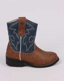 Zah Girls Woody Boot Blue