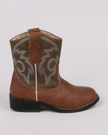 Zah Girls Woody Boot Brown