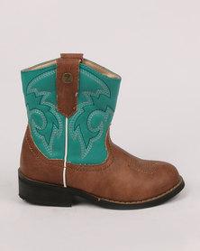 Zah Girls Woody Boot Green