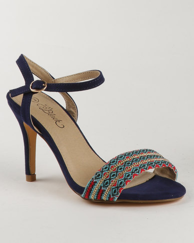 Miss Black Miss Black Nightjar High Heel Sandal Blue explore online online cheap authentic cheap sale low price fee shipping discount very cheap gJ2ffqETP