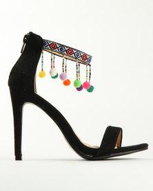 Miss Black Buzzard High Heel Sandal Black
