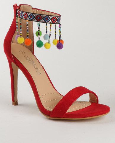 9e3bb49c06c5e Miss Black Buzzard High Heel Sandal Red | Zando