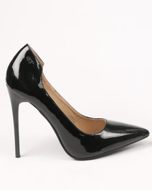 Miss Black Sanderling High Heel Court Shoe Black