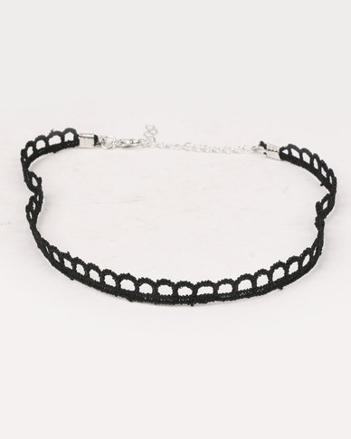 Klines 3Pack Lace and Lauriat Choker Black