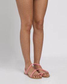Miss Black Salmon Flat Sandal Pink
