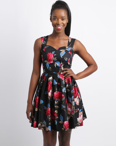 7ed3f45a69 Revenge Sweetheart Neckline Fit And Flare Dress Black
