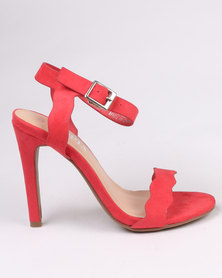 Utopia Scallop Barely There Heel Red