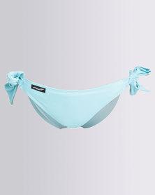 Peg Hipster Tie Bikini Bottom Aqua