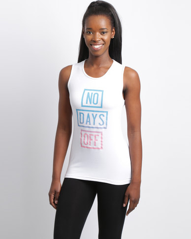 Utopia No Days Off Slouch Tee White
