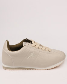 Soviet Thunderbird Casual Low Cut Lace Up Sneaker Beige