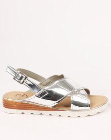 Footwork Rita Flat Sandal Silver