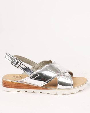 5034a7272759 Footwork Rita Flat Sandal Silver. Quick View