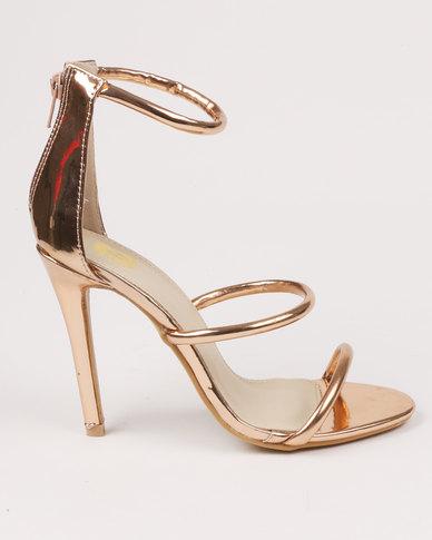 bf8bf9d86 Footwork Hayden High Heel Sandals Rose Gold