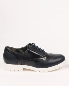 Footwork Bethany Casual Lace Up Shoe Navy