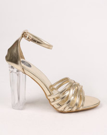 Footwork Amber block Heel Sandal Gold
