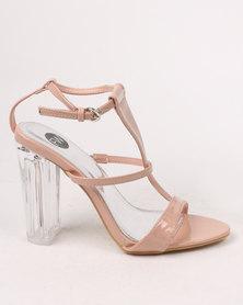 Shoes Footwork Alyssa Block Heel Sandal Nude FUTQXT