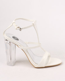 Footwork Alyssa Block Heel Sandal White