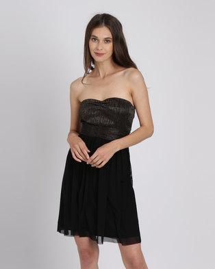 dd4d4ef3608 Utopia Metallic Mesh Sweetheart Party Dress Copper Black