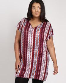Utopia Plus Viscose Tunic Dress Ethnic Print