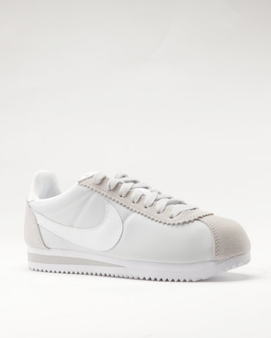 watch fe034 5458d Nike Women's Classic Cortez Nylon Pure Platinum/White