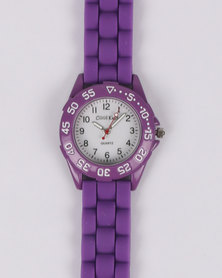 Cool Kids Sport Resin Watch Purple