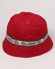 26f9a5ad01e Dickies 6 Panel Sporty Hat Red