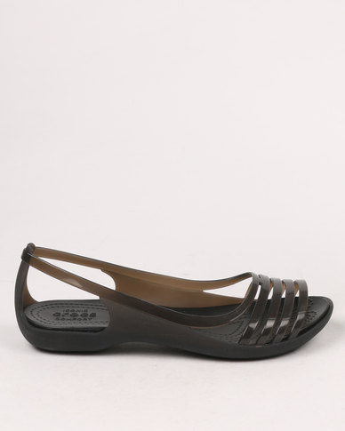 440844494ace Crocs Isabella Huarache Flat W Black