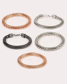 New Look Multi Strap Bracelet Silver-tone