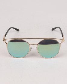 You & I Round Smoke Lens Sunglasses Grey