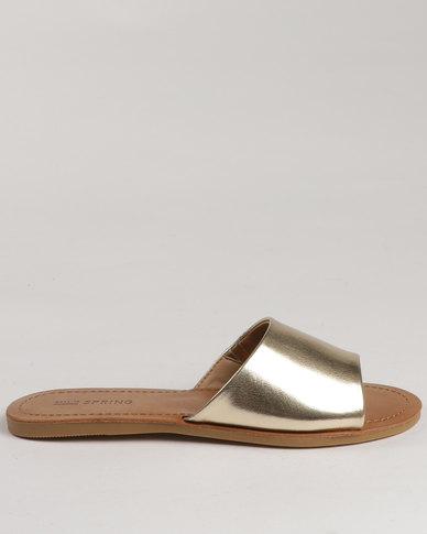 a11b2b15a Call It Spring Thirenia Slide Sandals Gold