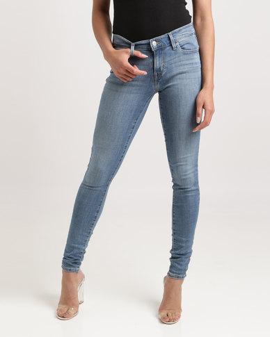 Levi's® 701 Super Skinny Fit Jeans Indigo Splash